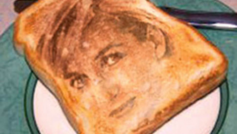 Queen Of Hearts In Slice Of Toast.